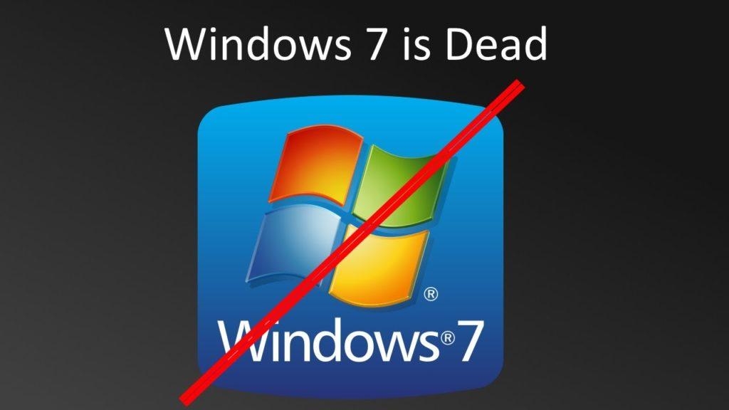 Fim do suporte estendido ao Windows 7 SP1 em 2020